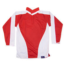 reversible rugby shirt red white