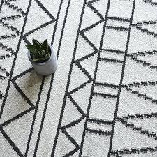 black white rug wool carpet geometric plaid grey striped modern contemporary design style
