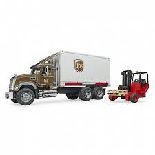 Mack <b>фургон</b> UPS с погрузчиком и паллетами <b>BRUDER</b>, 02-828 ...