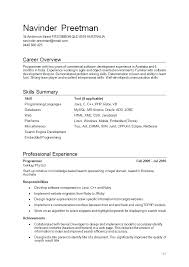programmer resume template  free skilled computer