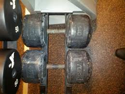 york legacy dumbbell set. it\u0027s a ymca - urethane dumbbells up to 125lbs and then these 140lb york monsters sitting all by themselves. never seen anyone use them. legacy dumbbell set
