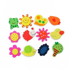 details about 12pcs set cartoon wooden animal fridge magnet child kid baby education toy props