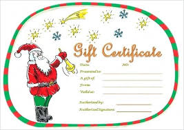 free printable christmas gift certificate templates christmas voucher templates free gift certificate template free