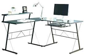 small glass corner desk computer desks for home office