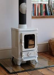 small stove on a glass hearth cooking on your wood burning stove
