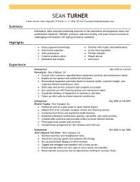 ... samples industrial maintenance resume objective ...