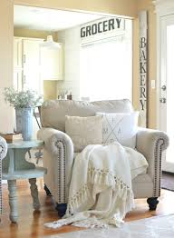 modern farmhouse furniture. Modern Farmhouse Furniture Is About Simple Lines And Comfortable, Here We Have A Club Chair Done In Cream Fabric With Nailhead Trim. R