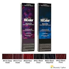 Hicolor Loreal Color Chart Loreal Technique Exc Hicolor Permanent Hair Color 1 74oz Choose From 6 Colors