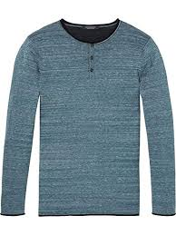 Amazon Com Scotch Soda Mens Grandad Pullover W Contrast
