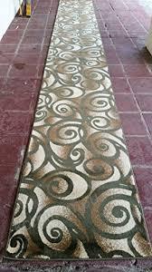 modern long runner rug green bellagio design 341 32 inch x 15 feet 10 inch b00sq0ceiw