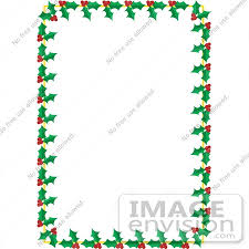 Holiday Borders For Word Documents Free Holly Clipart Border Christmas Clip Art Borders For Word Documents