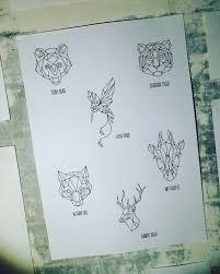 Origami Jdtattoostudio Tattoo Tiger Bear Bird медведь оригами