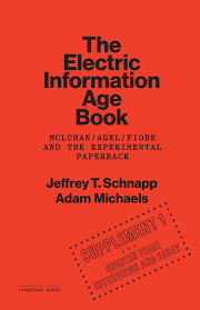 supplements to the electric information age book jeffrey schnapp cover