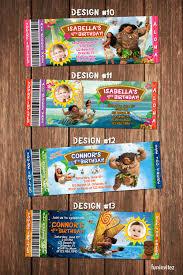 How To Make Printable Invitations Moana Ticket Birthday Party Photo Invitations Invites Custom Printable