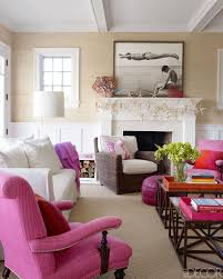 Purple Decorating Living Rooms Hamptons Ny Pink Accents Beaches And Orange Furniture