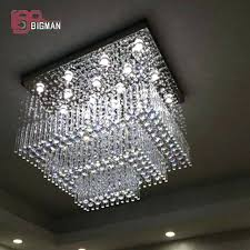 modern crystal chandelier gorgeous chandeliers of new square design lighting large living