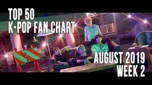 Pop Song Charts 2013 Top 50 K Pop Songs Chart August 2019 Week 2 Fan Chart