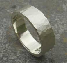 hammered white gold wedding band. white gold hammered wedding ring band