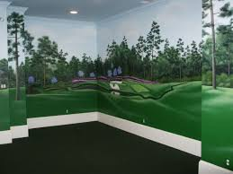 89 golf wall murals tranquil dawn oak park club surrey