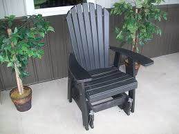 com outdoor poly adirondack gliding chair amish made usa black garden outdoor