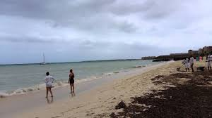 Aruba Weather March 10 (Cloudy, Waves and Strong Wind) - YouTube