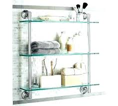 chrome glass shelf square bracket and corner unit