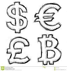 Hand Drawn Money Symbols Stock Vector Illustration Of Investing