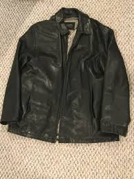 details about wilsons leather pelle studio black thinsulate zip out lining mens jacket xl