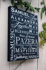 personalized canvas wall art unique personalized 16 20 family name word collage on canvas on personalized photo collage wall art with personalized canvas wall art unique personalized 16x20 family name