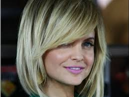 long layered bob hairstyles with side