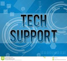 Tech Support Business Background Stock Illustration