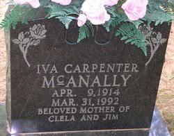Iva Cellia Carpenter McAnally (1914-1992) - Find A Grave Memorial