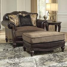 traditional chair and a half ottoman by signature design ashley slipcover ik chair and a half