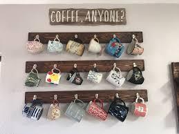 reclaimed wood mug rack urban rustic. Coffee Mug Rack. Hanging Mugs On The Walls. Reclaimed Wood Rack Urban Rustic B