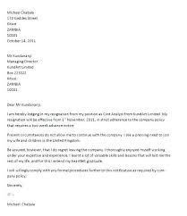 Example Of A Letter Of Resignation Inspiration Example Letter Of Resignation Colbroco
