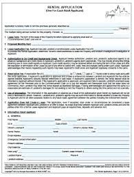 Rental Lease Application Form Seall Co