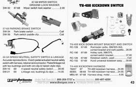 t 400 kickdown kit for forty ford hot rod forum hotrodders from a page out of rick s camaro parts shown for detail as i do not see the switch listed in the new catalog this is from a 09 catalog
