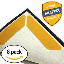 rug gripper tape pads anti slip non skid carpet corners easily stick rugs uses
