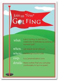 Birthday Invitations Printable Printable Golfing Birthday Invitation Template
