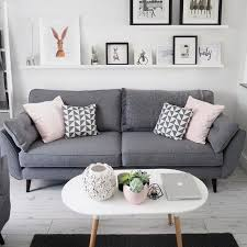 Beautiful Living Room Idea With Grey Sofa White Open Shelve And Sofa Living Room
