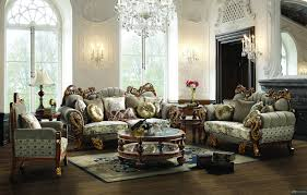 Live Room Set Traditional Upholstery French European Design Formal Living Room