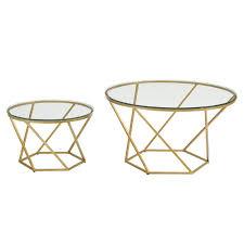 walker edison furniture company geometric glass nesting gold