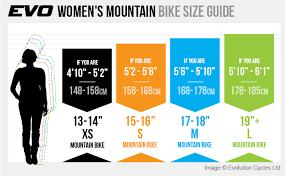 Trek Womens Size Chart Bike Size Guide Bike Fit Evo Cycles