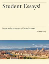 student essays practice norwegian  essaysamling 2013