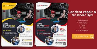 Auto Repair Flyer Car Dent Repair Car Service Flyer