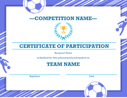 Free Soccer Certificate Templates Free Printable Soccer Certificate Four Sports Awards