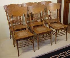 Set Of 6 Oak Press Back Spindle Back Chairs Antique Spindle Back Dining Chairs