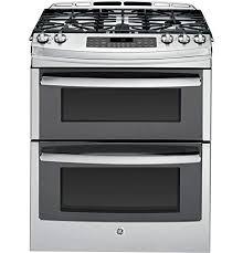 N GE PGS950SEFSS Profile 30u0026quot Stainless Steel Gas SlideIn Sealed Burner Double  Oven Range