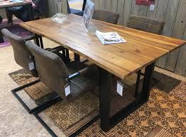 Esstisch Tisch 200x100cm Gestell Schwarz Platte Akazie Sit