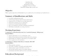 Waitress Resume Mesmerizing Example Of A Waitress Resume Resume For Waitress Waitress Resume